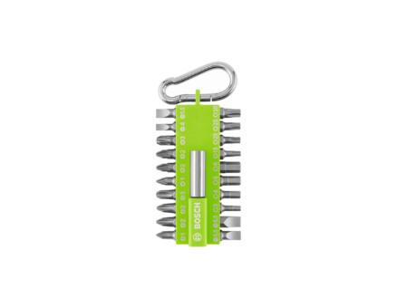 Bosch schroefbitset 21-delig groen + Snaphook