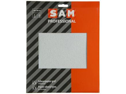 Sam schuurpapier K180 droog 5 stuks