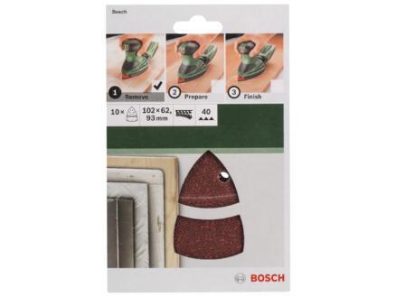 Bosch schuurpapier K40 102x93 mm 10 stuks