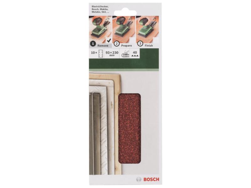 Bosch schuurpapier K40 230x93 mm 10 stuks