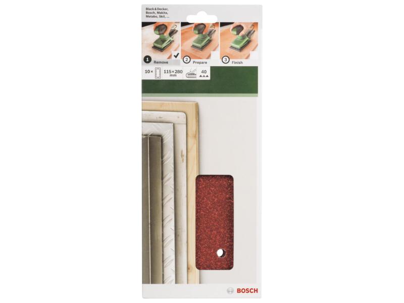 Bosch schuurpapier K40 280x115 mm 10 stuks