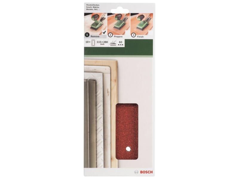 Bosch schuurpapier K60 280x115 mm 10 stuks