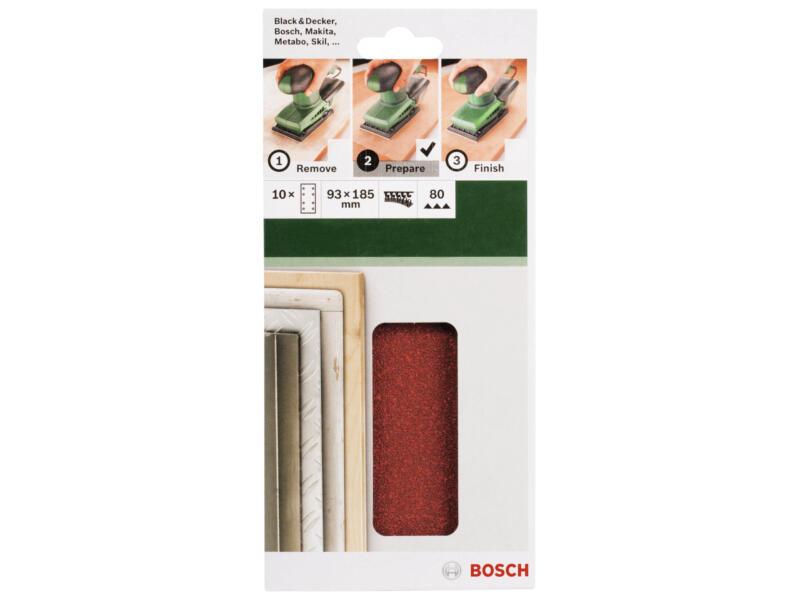 Bosch schuurpapier K80 185x93 mm 10 stuks