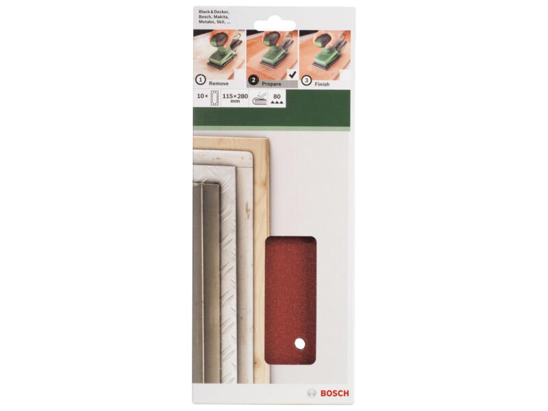 Bosch schuurpapier K80 280x115 mm 10 stuks