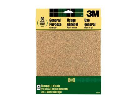 3M schuurpapier K80 286x279 mm 4 stuks