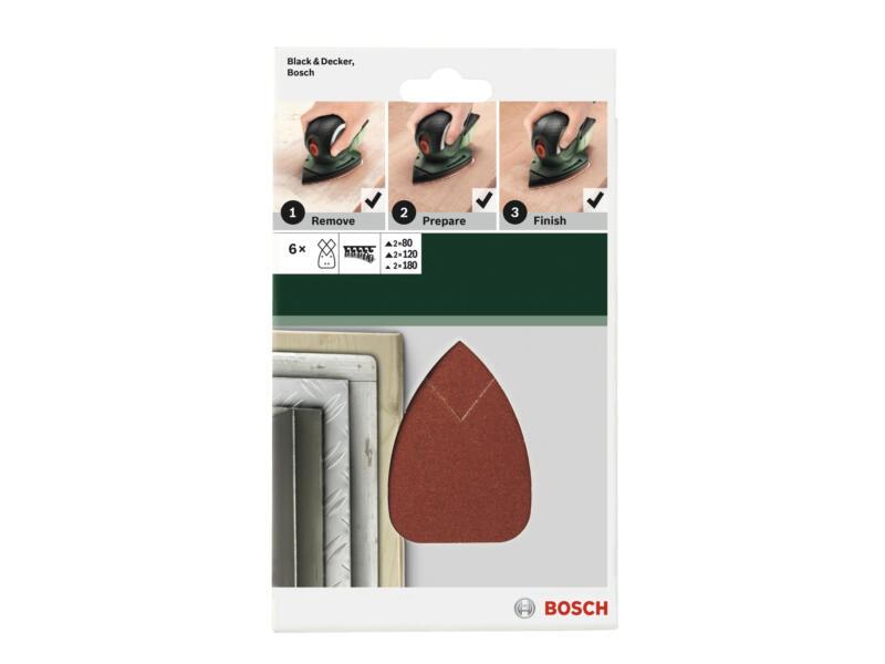 Bosch schuurpapier K80/K120/K180 135x95 mm 5 stuks