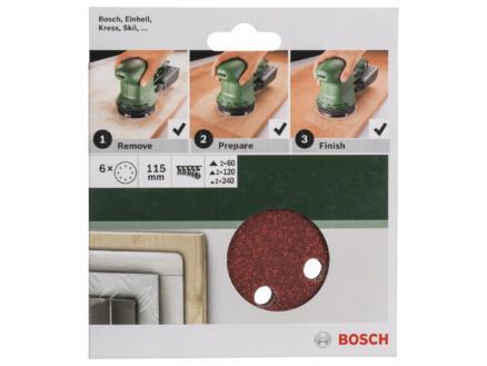 Bosch schuurschijf K60/K120/K240 115mm 6 stuks