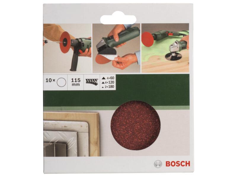 Bosch schuurschijf K60/K180 115mm 10 stuks