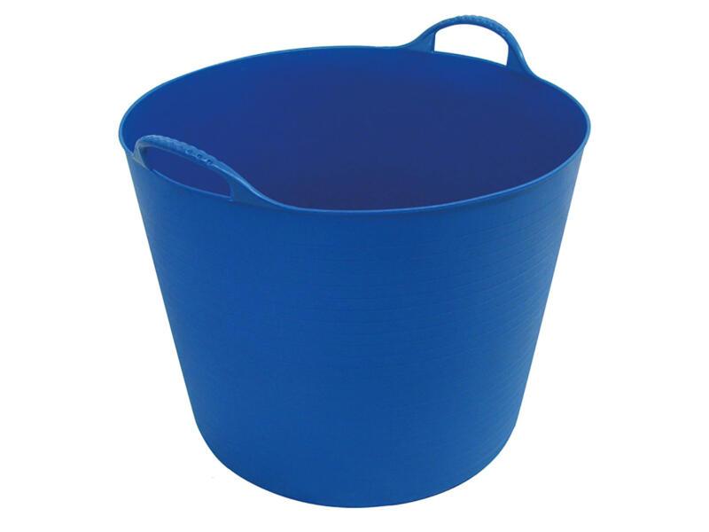 Toolland seau de jardin souple 45l bleu