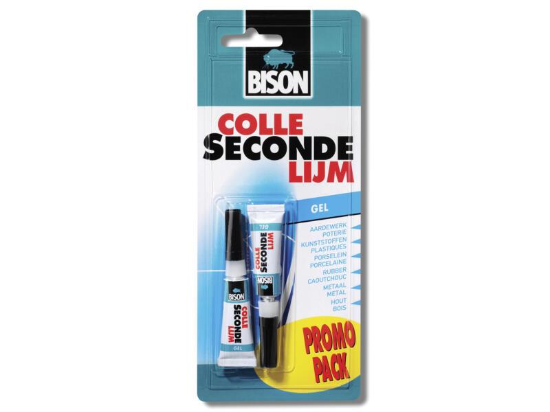 Bison secondelijm 2x3 g transparant