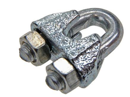 Sam serre-câble à étrier 5mm galvanisé 4 pièces