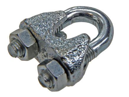 Sam serre-câble à étrier 6mm galvanisé 4 pièces