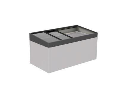 Biohort serre voor MoestuinBox 200x100 cm donkergrijs metallic
