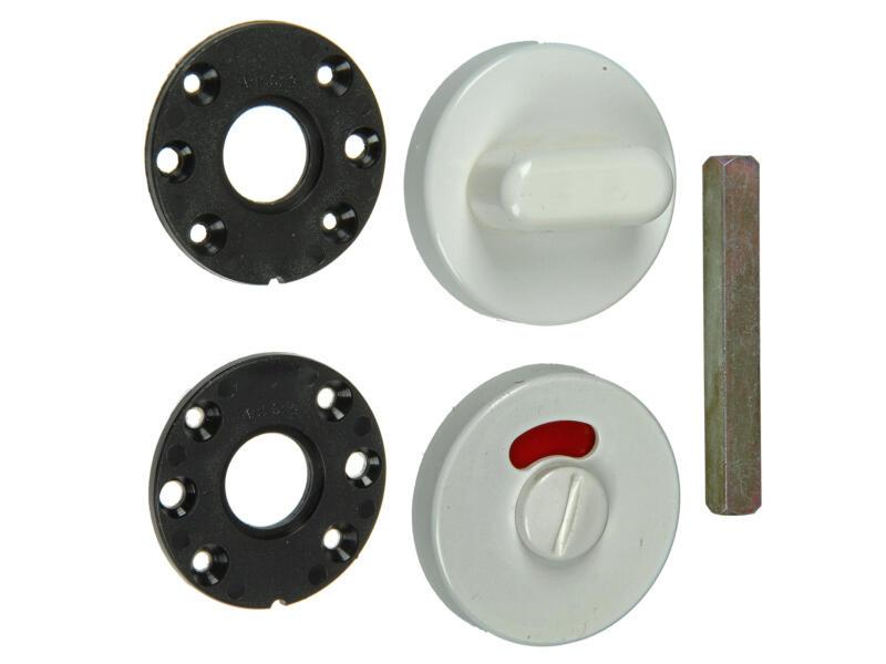 serrure WC 50mm matière synthétique blanc