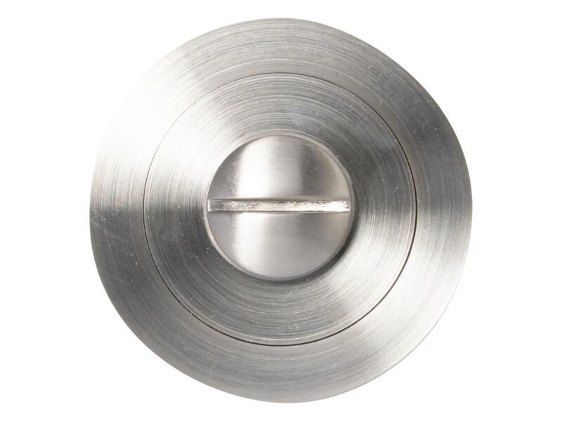 Solid serrure WC avec rosace 52mm aluminium