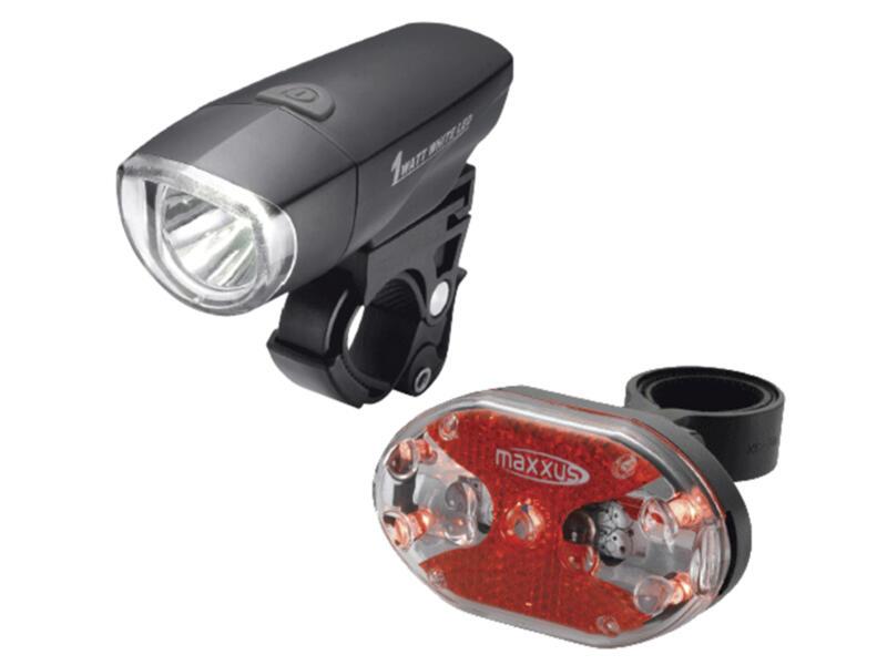 Maxxus set d'éclairage vélo super LED 1W