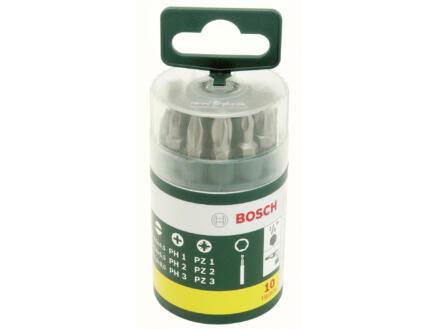 Bosch set d'embouts PH/PZ/SL 25mm 10 pièces