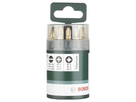 Bosch set d'embouts PH/PZ/SL 25mm titane 10 pièces