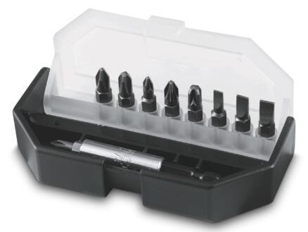 Stanley set d'embouts PH/PZ/SL avec porte-embout 10 pièces