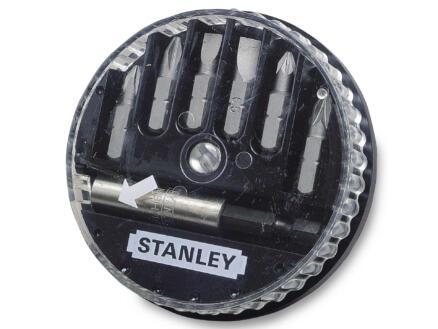 Stanley set d'embouts PH/PZ/SL avec porte-embouts 7 pièces