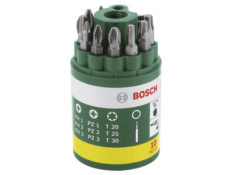 Bosch set d'embouts PH/PZ/TX 25mm 10 pièces