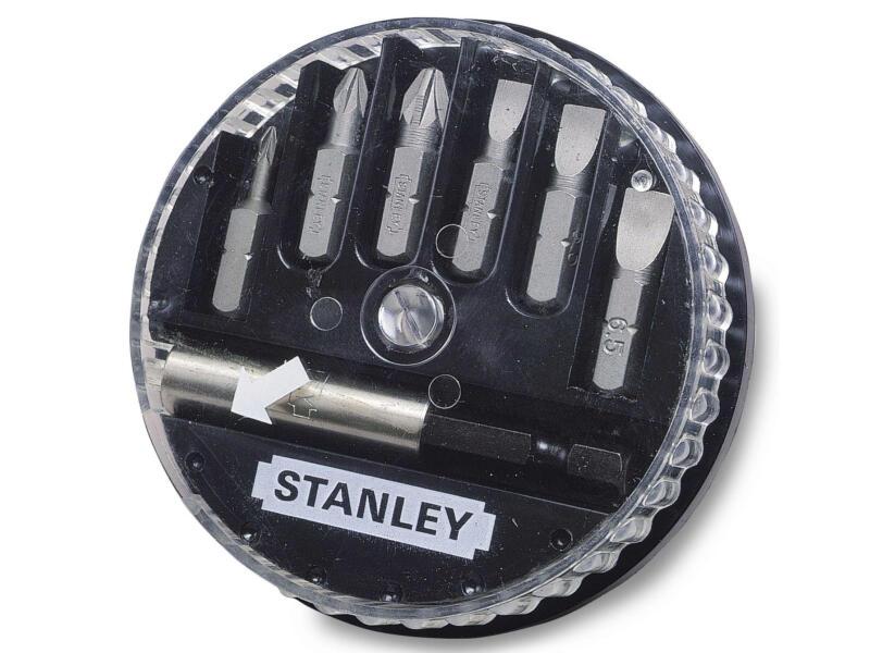 Stanley set d'embouts PZ/SL avec porte-embouts 7 pièces