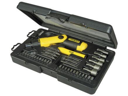 Stanley set d'embouts à cliquet HX/PH/R/SL/TX avec poignée pistolet 38 pièces