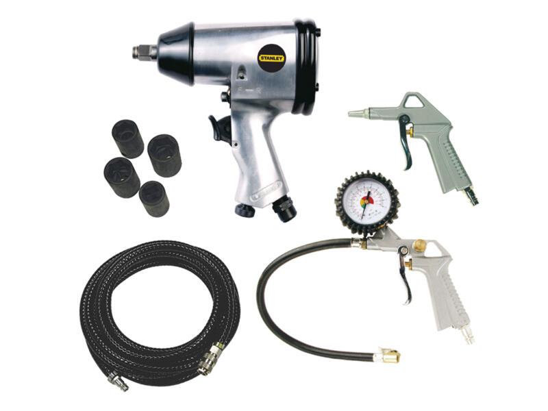 Stanley set d'outils pneumatiques compresseur 8 pièces