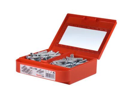 Fischer set de chevilles UX 6/8 SX 6/8 avec vis 150 pièces
