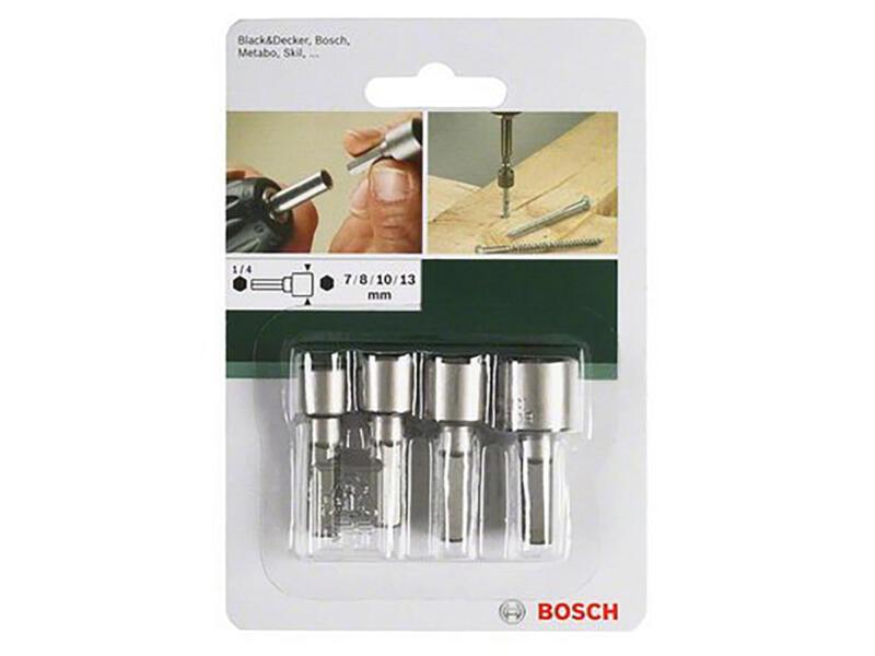 Bosch set de douilles SW 7/8/10/13 4 pièces