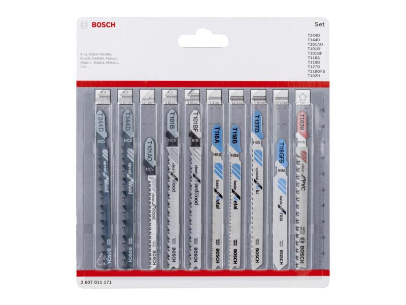 Bosch Professional set decoupeerzaagbladen 10-delig