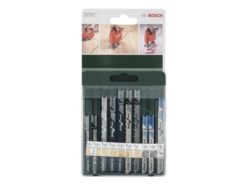 Bosch set decoupeerzaagbladen U hout/metaal/alu 10-delig