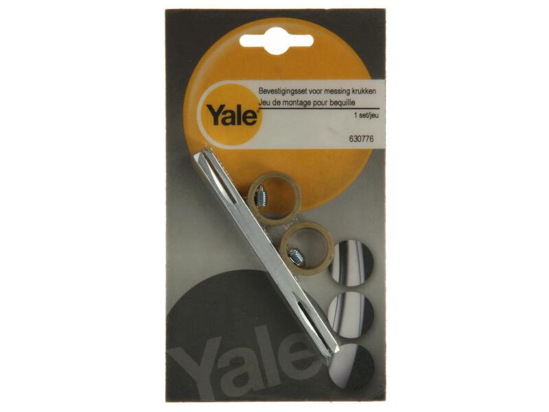 Yale set stift, schroeven en ringen voor messing klinken