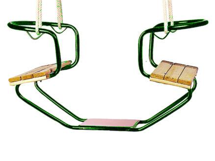 Gardenas siège de balançoire double bois/métal vert