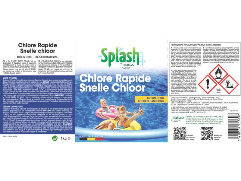Splash snelle chloor 1kg