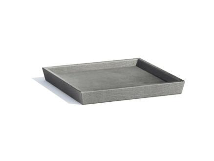 Ecopots soucoupe 28x28 cm gris