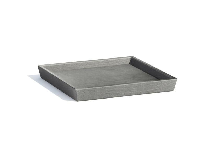 Ecopots soucoupe 44x44 cm gris