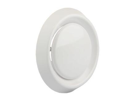 Renson soupape réglable 100mm PVC blanc