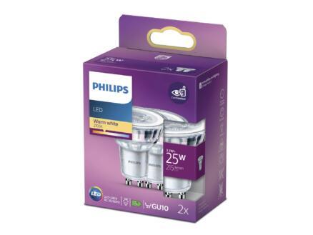Philips spot LED GU10 3,1W 2 pièces