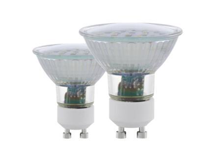 Eglo spot LED SMD GU10 5W blanc chaud 2 pièces