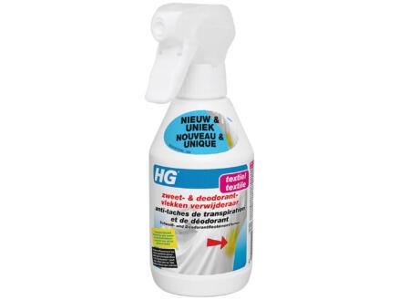 HG spray détachant taches de transpiration et de déodorant 250ml