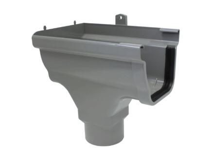 Scala spruitstuk links voor dakgoot C140 PVC grijs