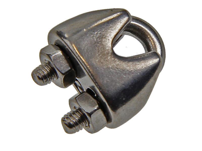 Sam staaldraadklem 1-2 mm inox 4 stuks