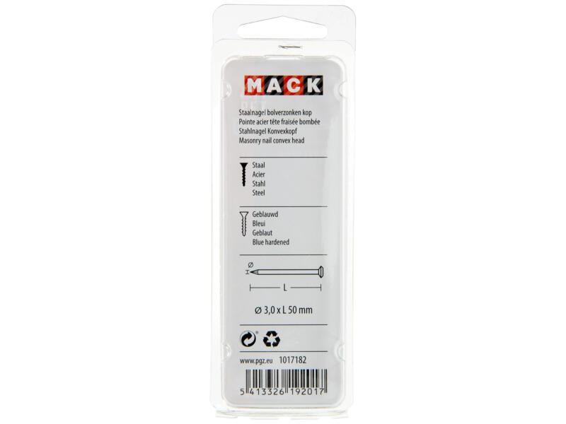 Mack staalnagels met bolverzonken kop 3x50 mm 45g