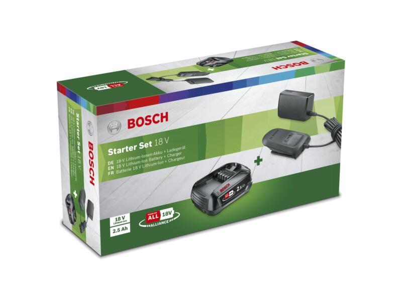 Bosch starterset accu 18V Li-Ion 2,5Ah + AL 1810 CV lader