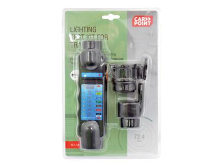 Carpoint stekkertester 3-in-1 + 2 adapters