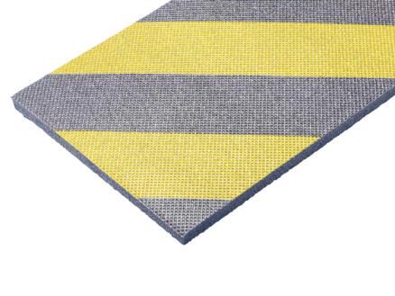 Mottez stootstrip 100x15x1 cm geel 2 stuks