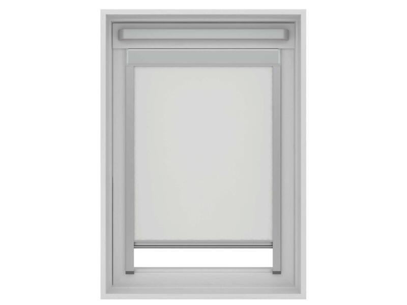 Decosol store enrouleur occultant fenêtre de toit 114x118 cm blanc