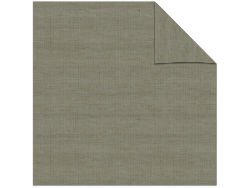 Decosol store enrouleur translucide 210x190 cm gris clair aspect lin
