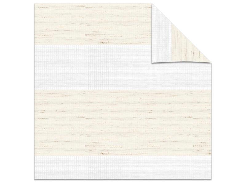 Decosol store enrouleur vénitien tamisant 180x160 cm structure lin blanc